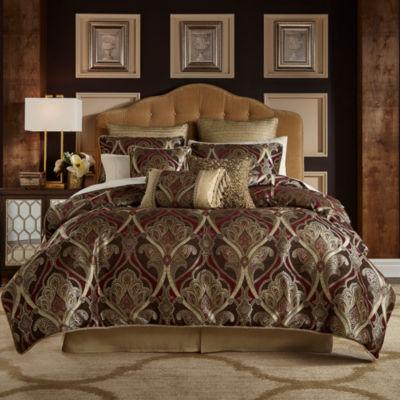 croscill classics royal red comforter set