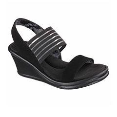 Skechers Rumblers Womens Wedge Sandals