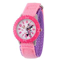 Disney Minnie Mouse Girls Pink Strap Watch-Wds000161