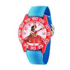 Disney Elena of Avalor Girls Blue Strap Watch-Wds000275