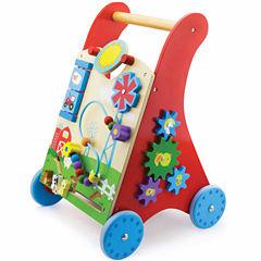 Kids Preferred Windsor Solid Wood Activity Baby Walker