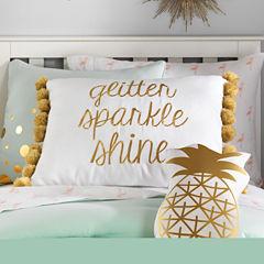 Frank And Lulu Glitter Sparkle Shine Pillow Rectangular Throw Pillow