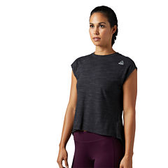 Reebok Short Sleeve High Neck T-Shirt-Womens