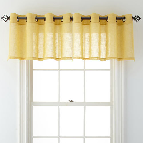 JCPenney Home™ Bayview Grommet-Top Sheer Tailored Valance