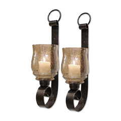 Set of 2 Small Joselyn Candle Wall Sconces