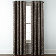 JCPenney Home™ Quinn Leaf Grommet-Top Window Treatments
