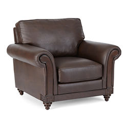 Brumfield Faux-Leather Chair