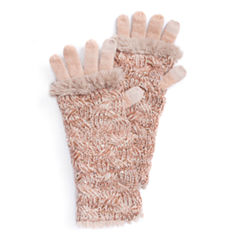 Muk Luks Cable 3-In-1 Knit Cold Weather Gloves