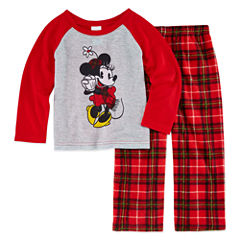 Disney Family Pajamas 2-pc. Minnie Mouse Pant Pajama Set Unisex