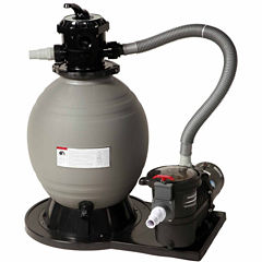 Blue Wave 18-in Sand Filter System with 1 HP Pumpfor Above Ground Pools