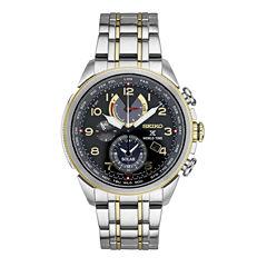 Seiko Mens Two Tone Bracelet Watch-Ssc508