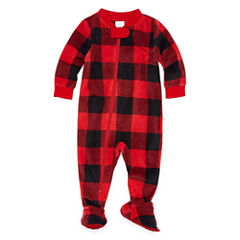 North Pole Trading Co. Long Sleeve Footed Pajamas-Baby
