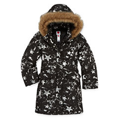Total Girl Heavyweight Star Puffer Jacket - Girls-Big Kid