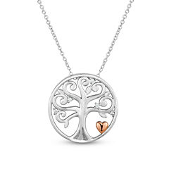 Diamonart Womens Cubic Zirconia 18K Rose Gold Over Silver Pendant Necklace