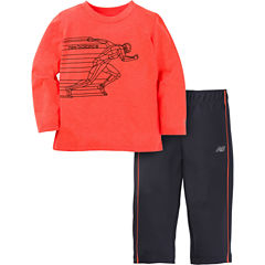 New Balance 2-pc. Logo Pant Set Baby Boys