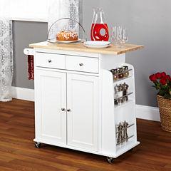 Sonoma Wood-Top Kitchen Cart