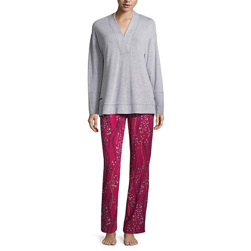 Liz Claiborne 2-pc. Floral Pant Pajama Set-Tall