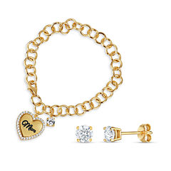 Womens 2-pc. 1 3/4 CT. T.W. White Cubic Zirconia 18K Gold Over Silver Jewelry Set
