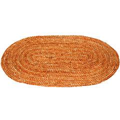 Oriental Furniture Woven Maize Oval Doormat