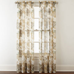 Liz Claiborne® Lisette Floral Rod-Pocket Sheer Curtain Panel