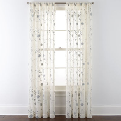 jcpenney home malta rodpocket curtain panel - 63 Inch Curtains