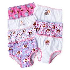 Disney Sofia 7-pk. Brief Panties - Girls 2t-6