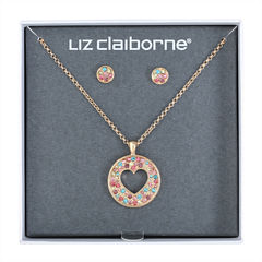 Liz Claiborne Womens 2-pc. Multi Color Jewelry Set