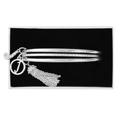 Liz Claiborne Womens Clear Bangle Bracelet