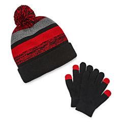 Weatherproof Beanie & Glove Set-Boys Big Kid