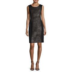 Worthington® Sleeveless Foiled-Panel Sheath Dress