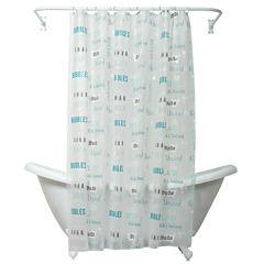 Zenna Home Bubble Bath Shower Curtain