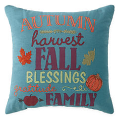 JCPenney Home™ Autumn Words Square Decorative Pillow