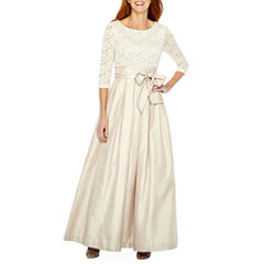 Jessica Howard 3/4 Sleeve Ball Gown