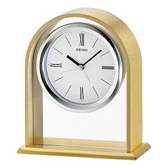 Seiko White Table Clock-Qhe134flh