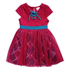 Young Land Short Sleeve Tutu Dress - Toddler Girls