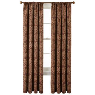 royal velvet vance rodpocket lined curtain panel