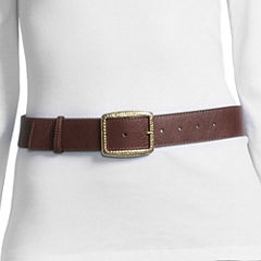 Libby Edelman Brass Buckle Belt