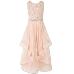 Speechless Embellished Sleeveless Peasant Dress - Big Kid Girls
