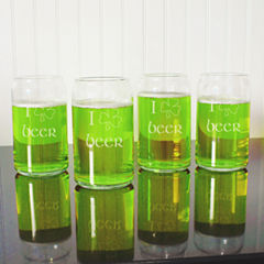 Cathy's Concepts St. Patrick'S Day 4-pc. Beer Glass Set