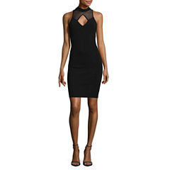 My Michelle Sleeveless Bodycon Dress-Juniors