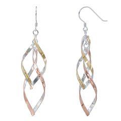 14K Gold Over Silver Drop Earrings