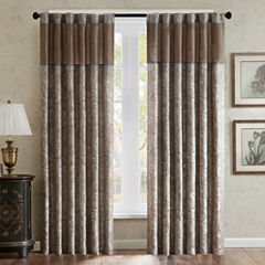 Madison Park Whitman 2 Pack Paisley Jacquard Curtain Panels