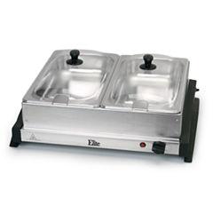 Elite Gourmet EWM-6122 Dual Tray Buffet Server