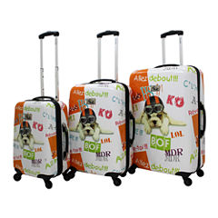 Chariot Fly Dog 3-pc. Hardside Luggage Set