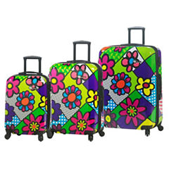Mia Toro Italy M By Mia Toro-Flower Largo 3-pc. Hardside Luggage Set