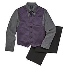 Steve Harvey 4-pc. Suit Set 8-20 Boys