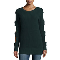 a.n.a Cut Out Sleeve Pullover Sweater