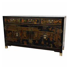 Oriental Furniture Lacquer Buffet