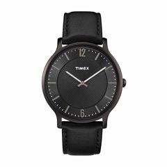 Timex Metropolitan Skyline Mens Black Strap Watch-Tw2r50100jt