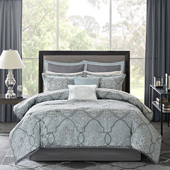 Madison Park Anouk 12-pc. Jacquard Complete Bedding Set with Sheets